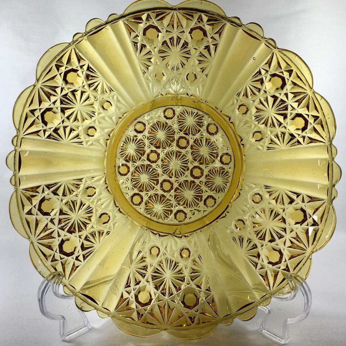 Greener & Co Amber Glass Plate