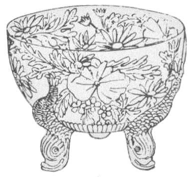 1882 Sowerby Dolphin Bowl